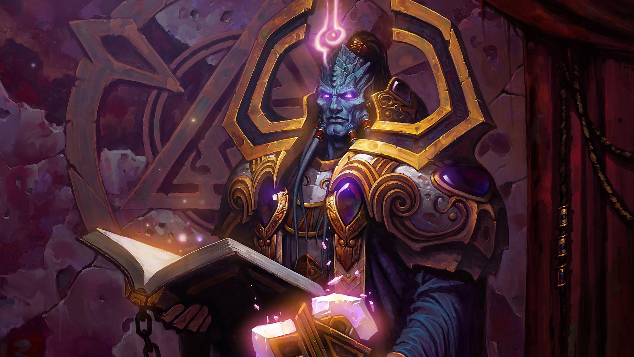 游戏壁纸,魔兽世界,魔法书,锁链,封印,恶魔