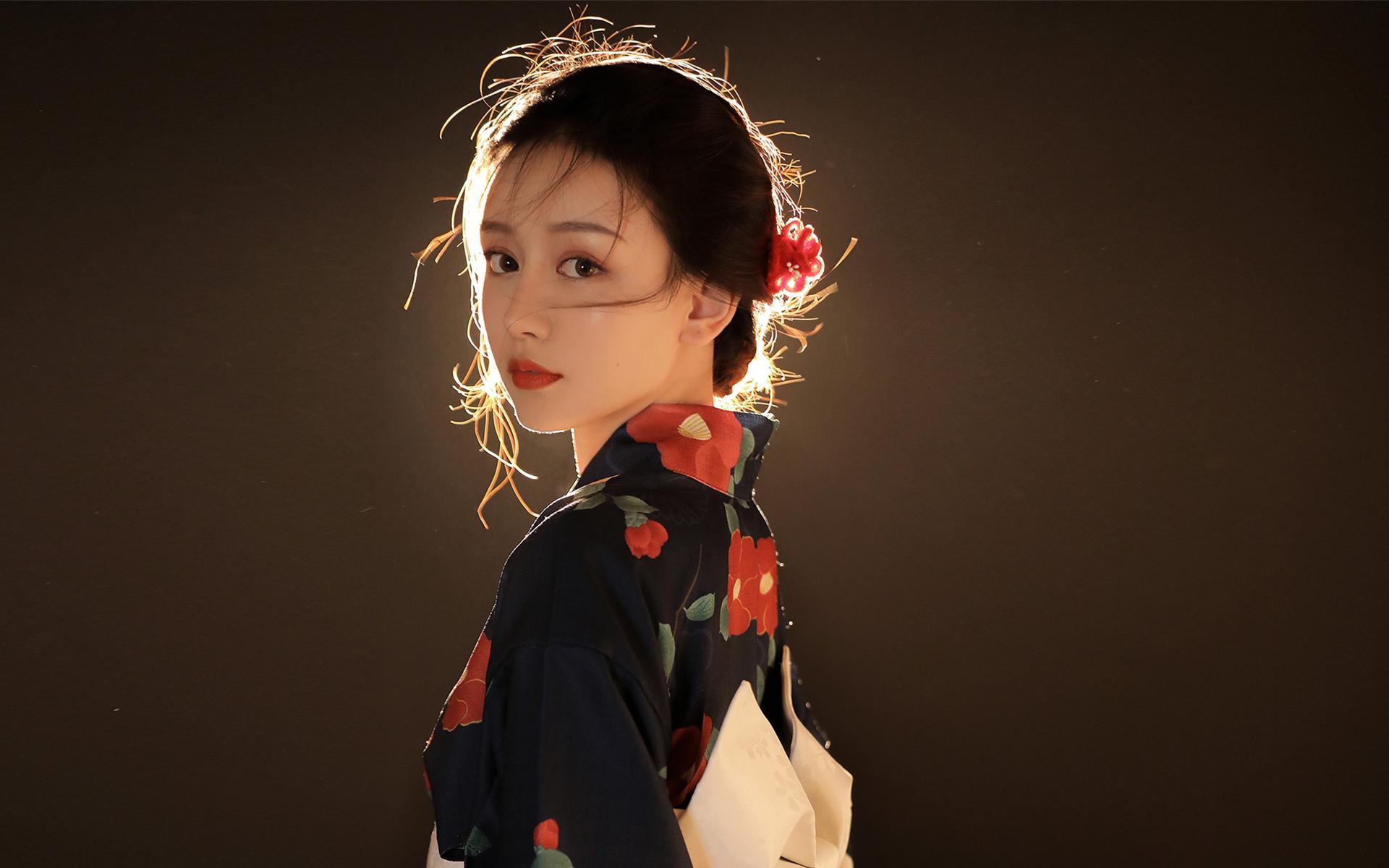 美女模特,文艺古风,,日系美女和服写真