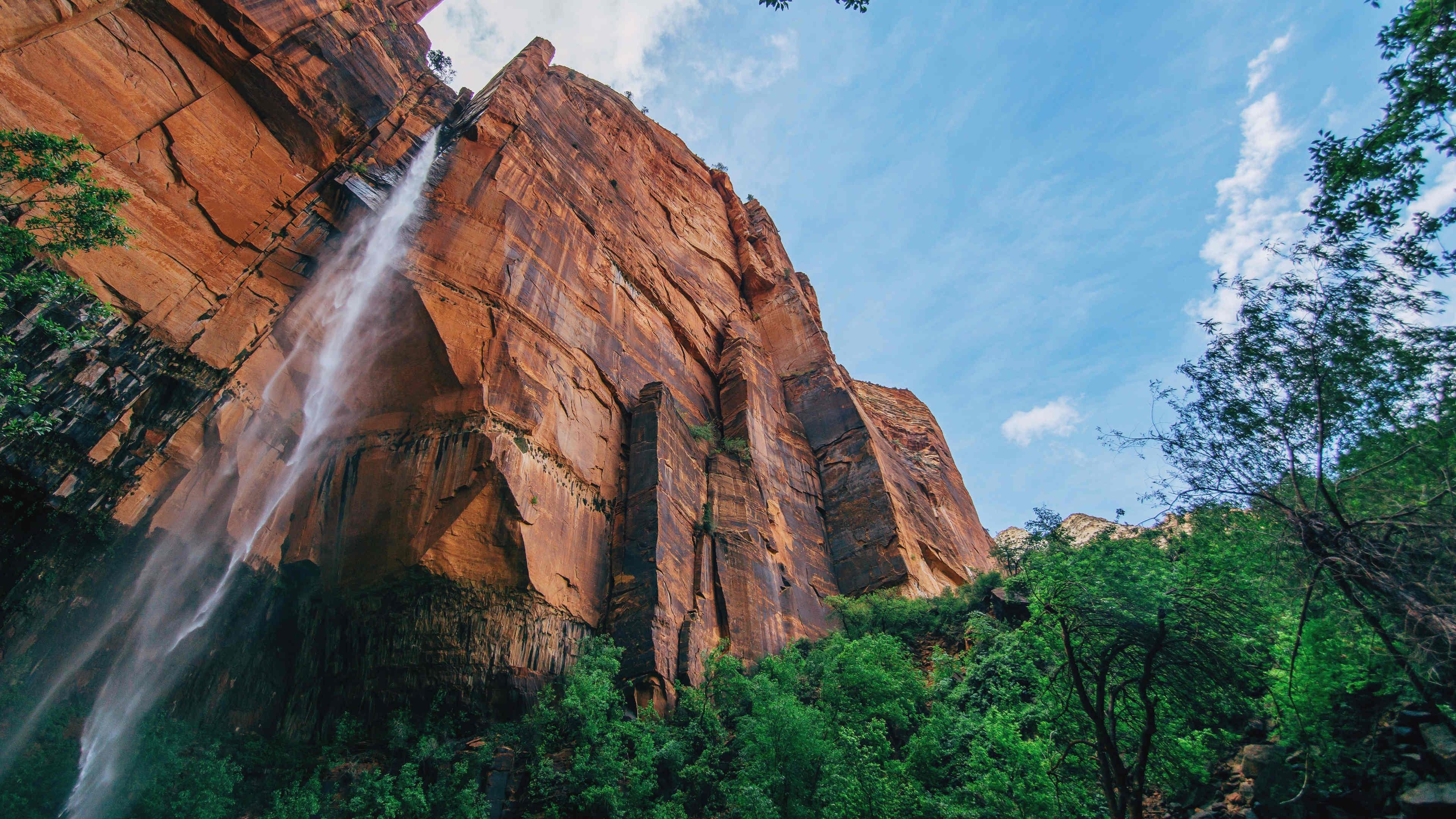 风景大片,自然风光,高山,巨石,瀑布,天空