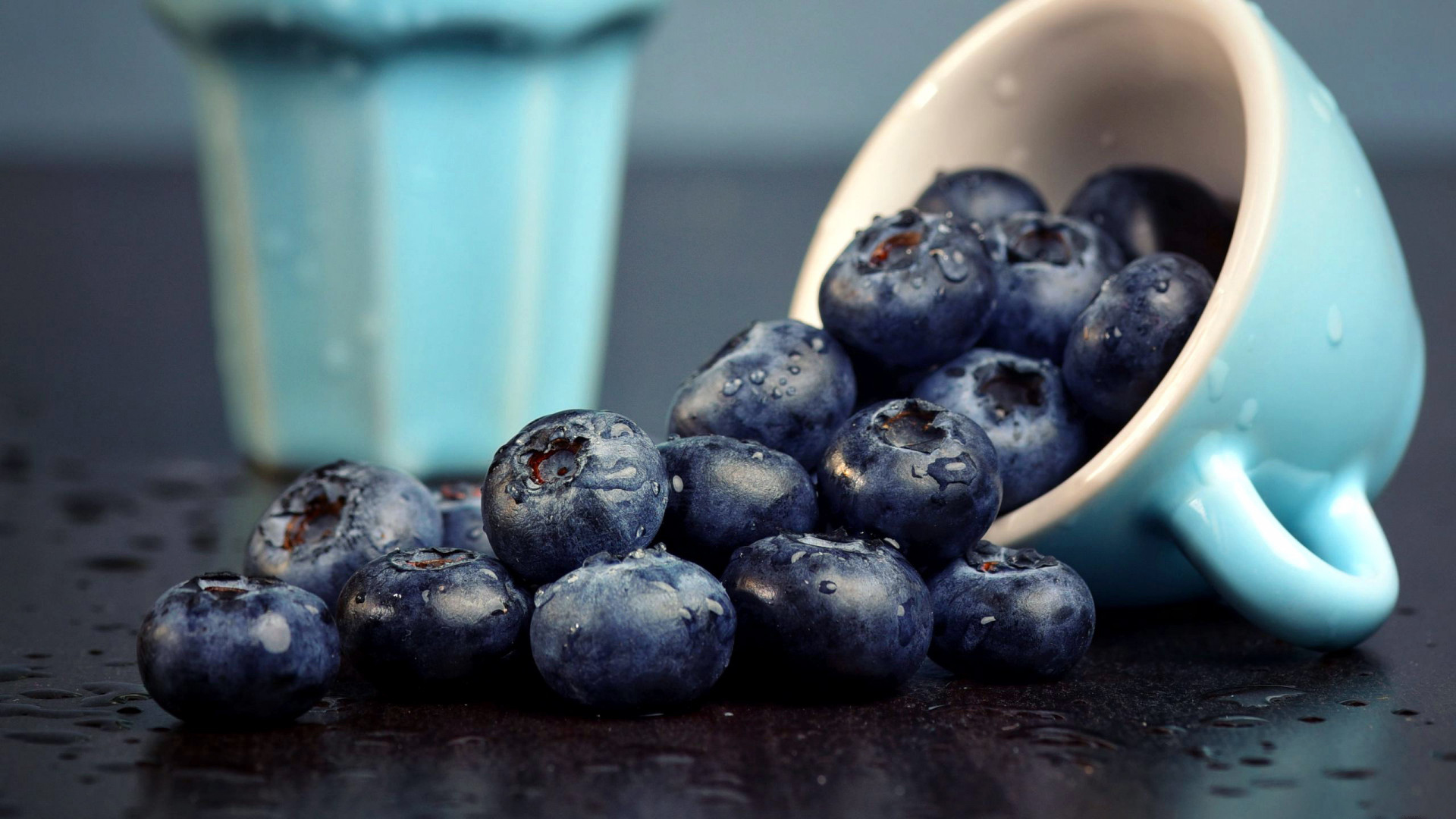 小清新,动感水果,蓝莓,水杯