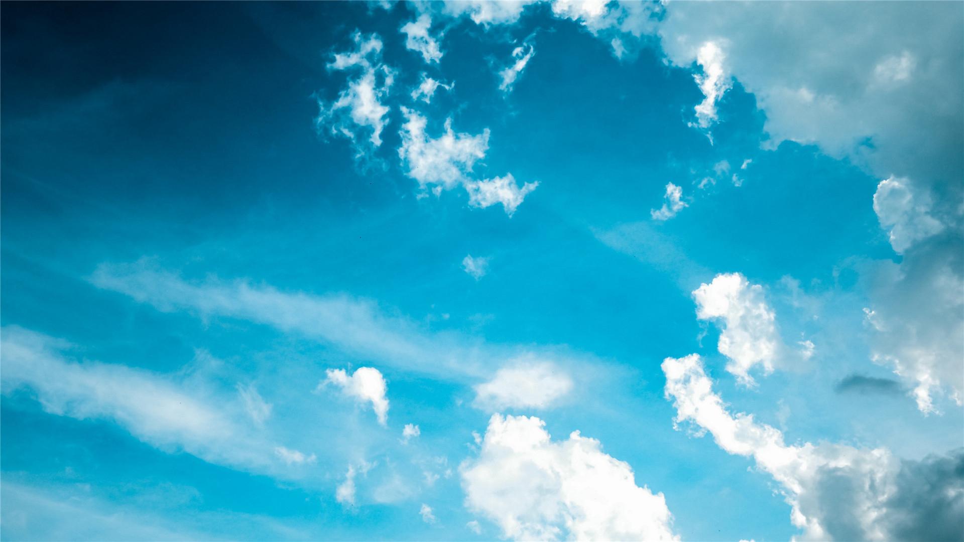 风景大片,蓝天白云,天空,阳光,云朵