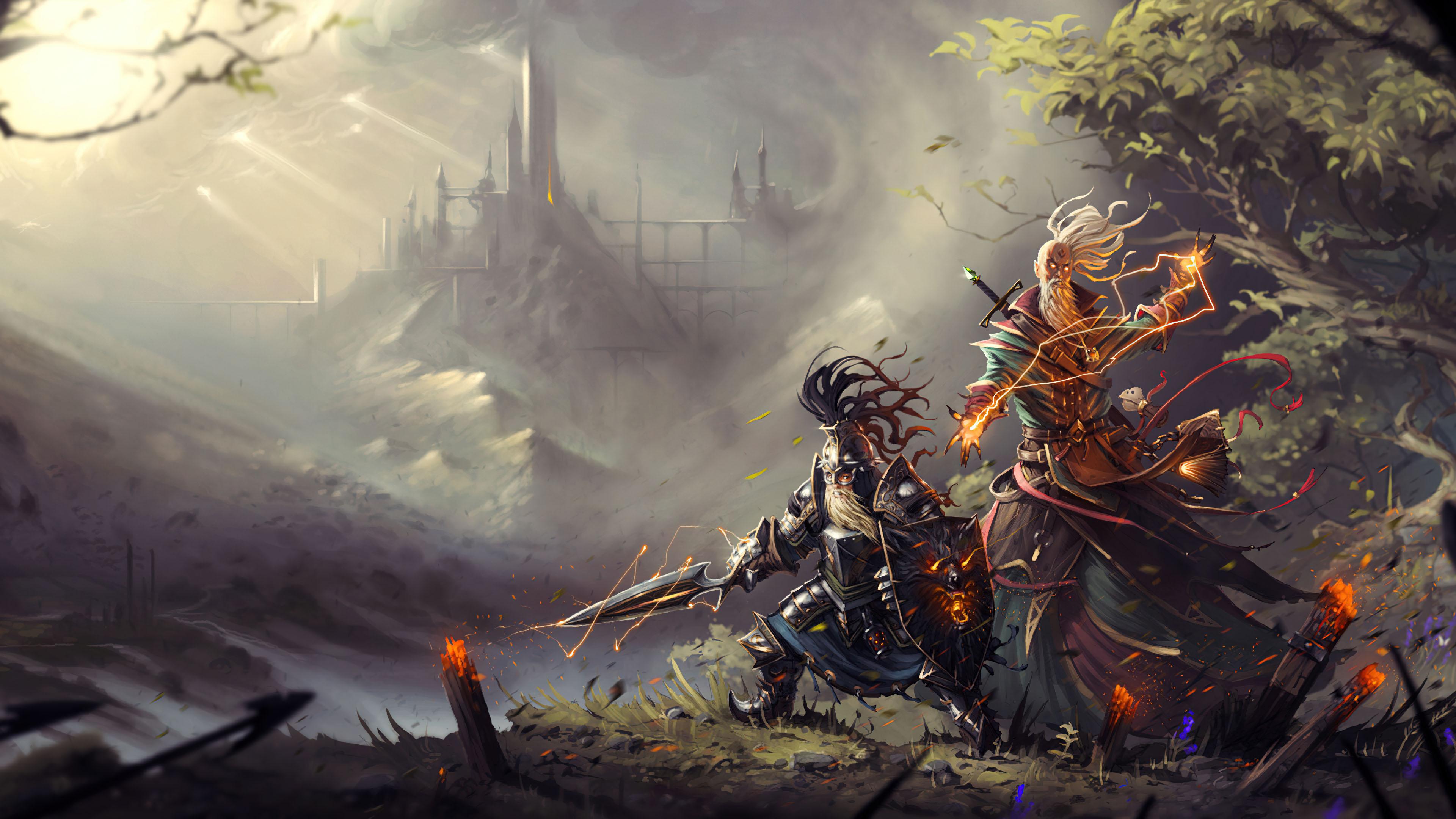 游戏壁纸,主机游戏,战士,武士,魔法师