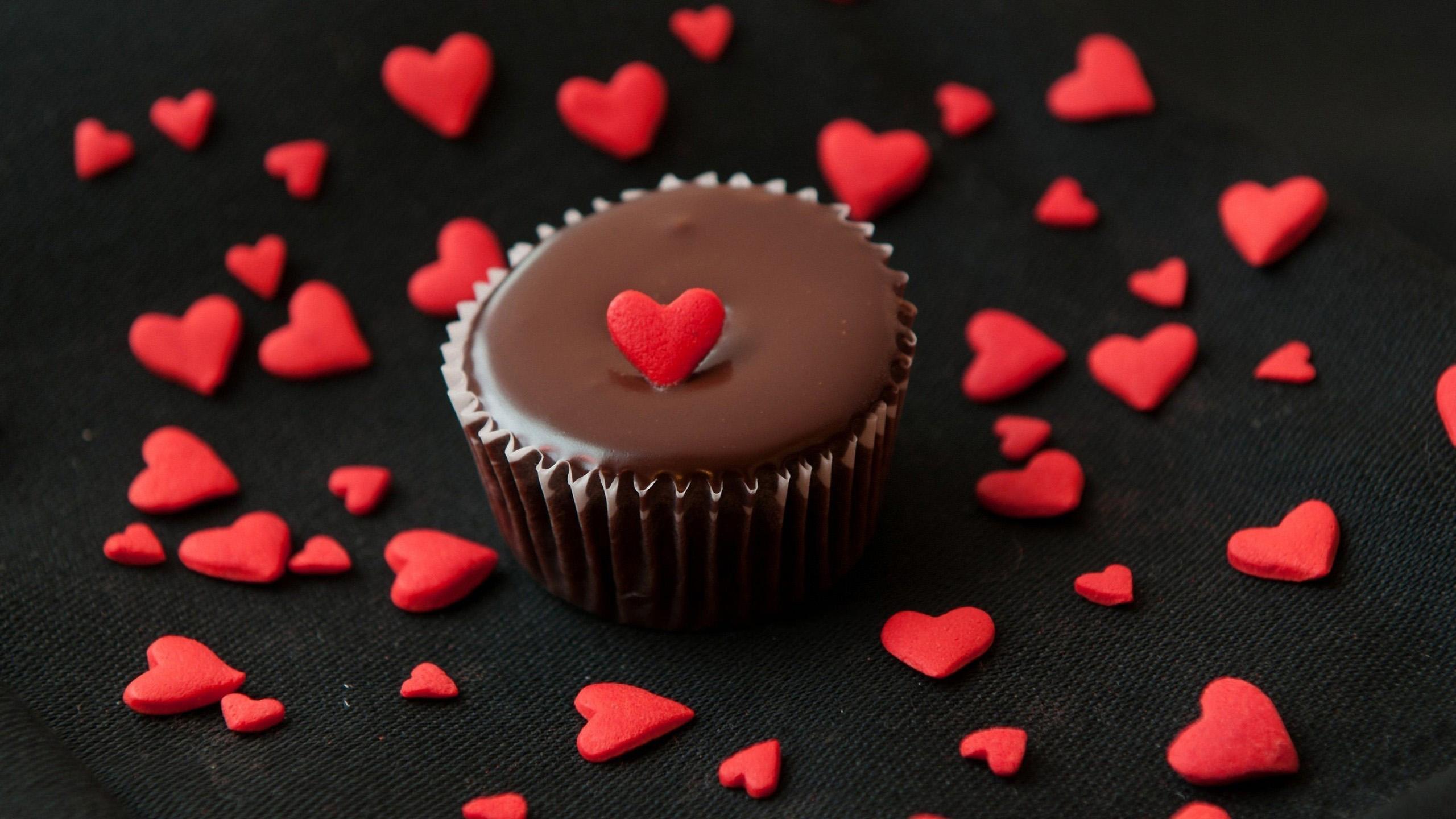 小清新,舒缓压力,蛋糕,纸杯蛋糕,巧克力,爱心