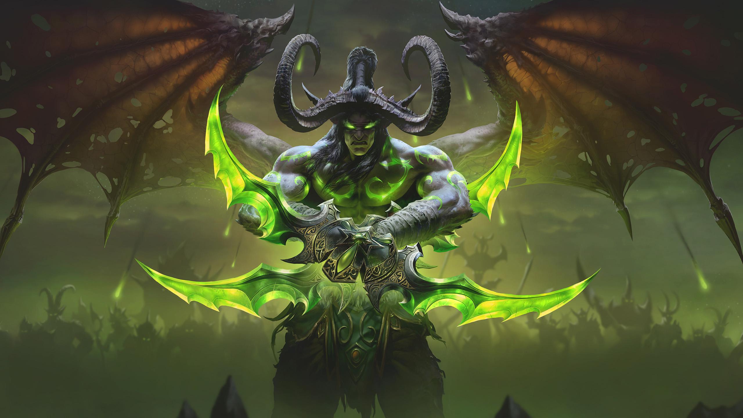 游戏壁纸,魔兽世界,恶魔猎手,伊利丹