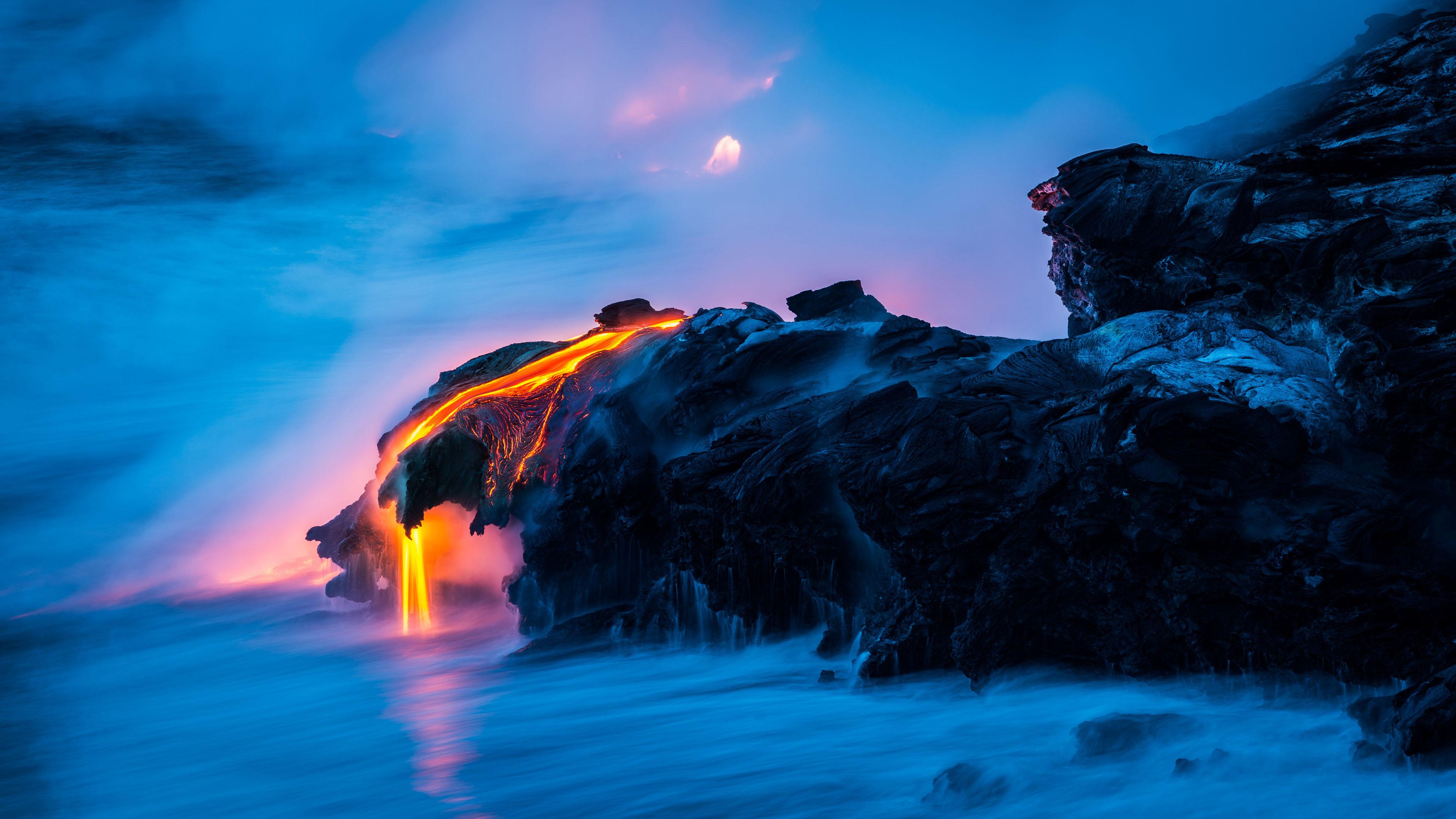 4K专区,奇幻梦境,自然之美,火山,熔岩,win10