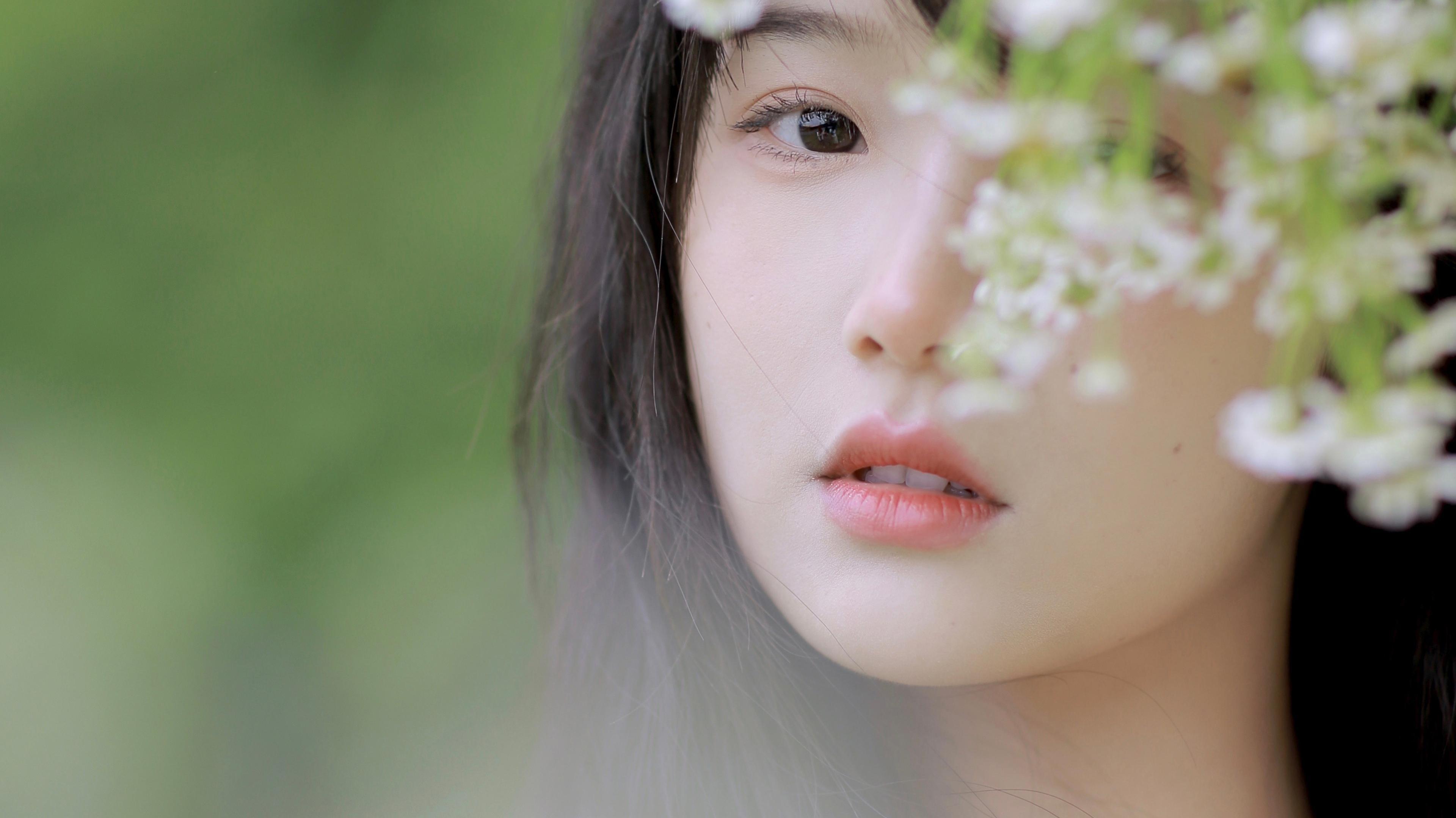 美女模特,清纯,春天,女孩,小家碧玉