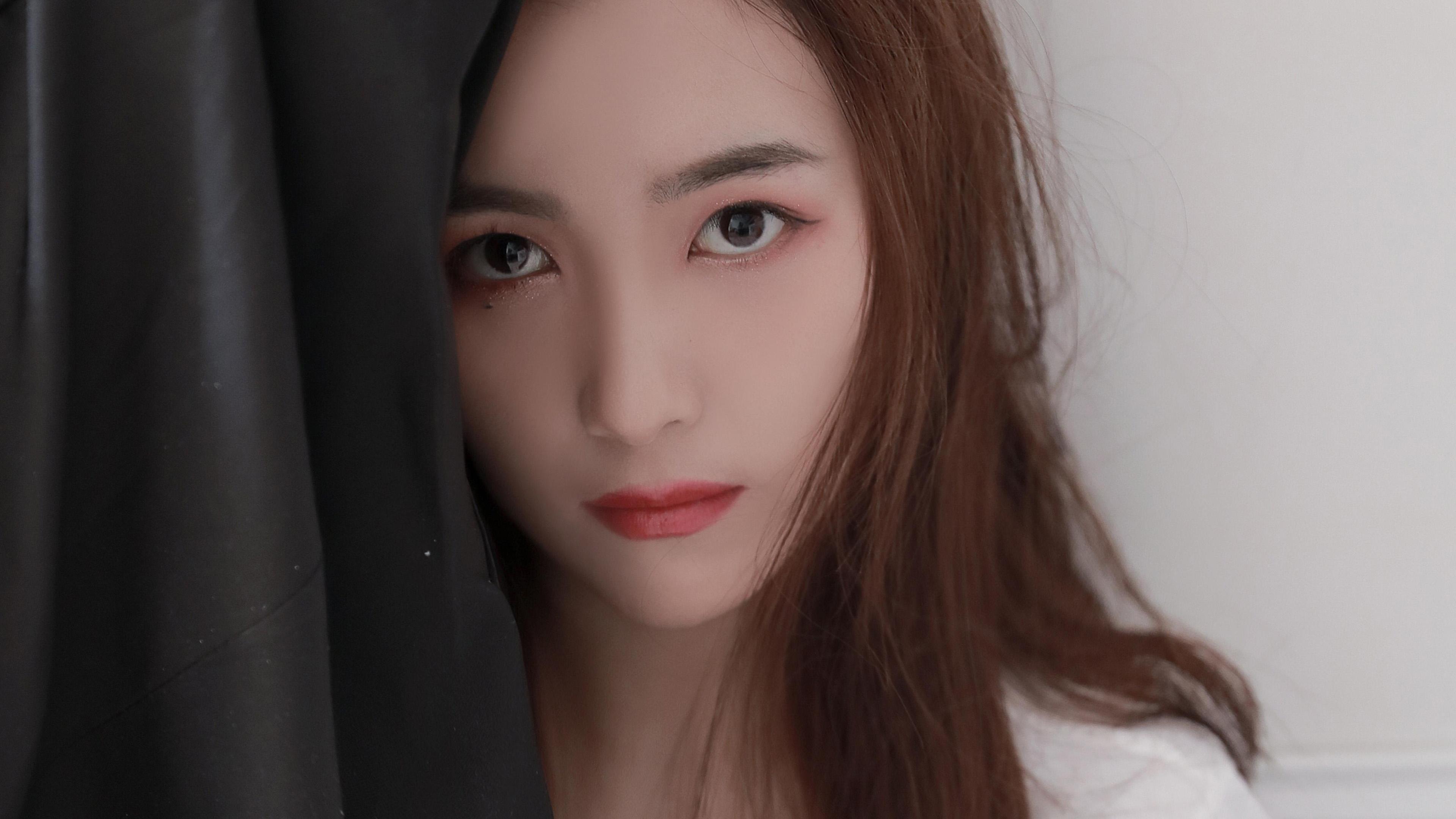 美女模特,清纯,长发,冷艳