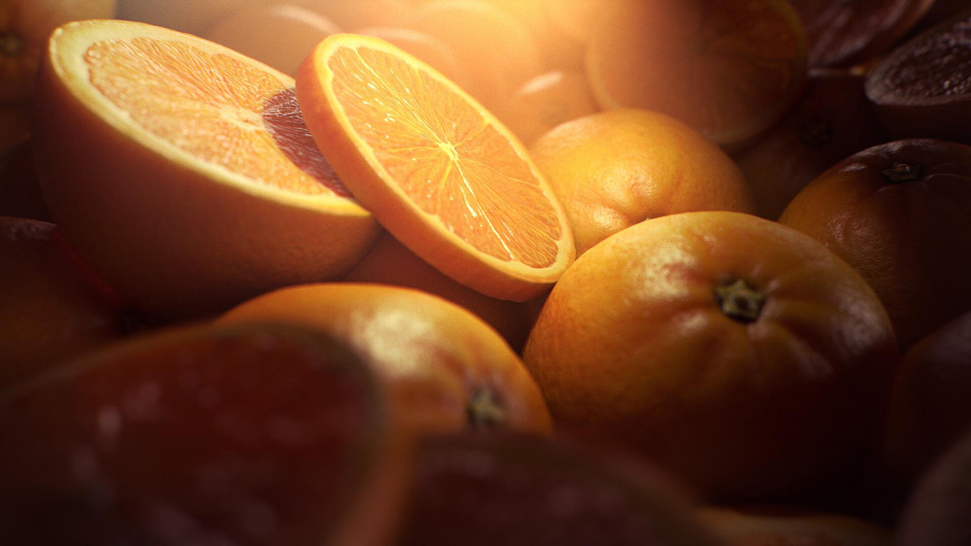 小清新,动感水果,橘子,甜橙