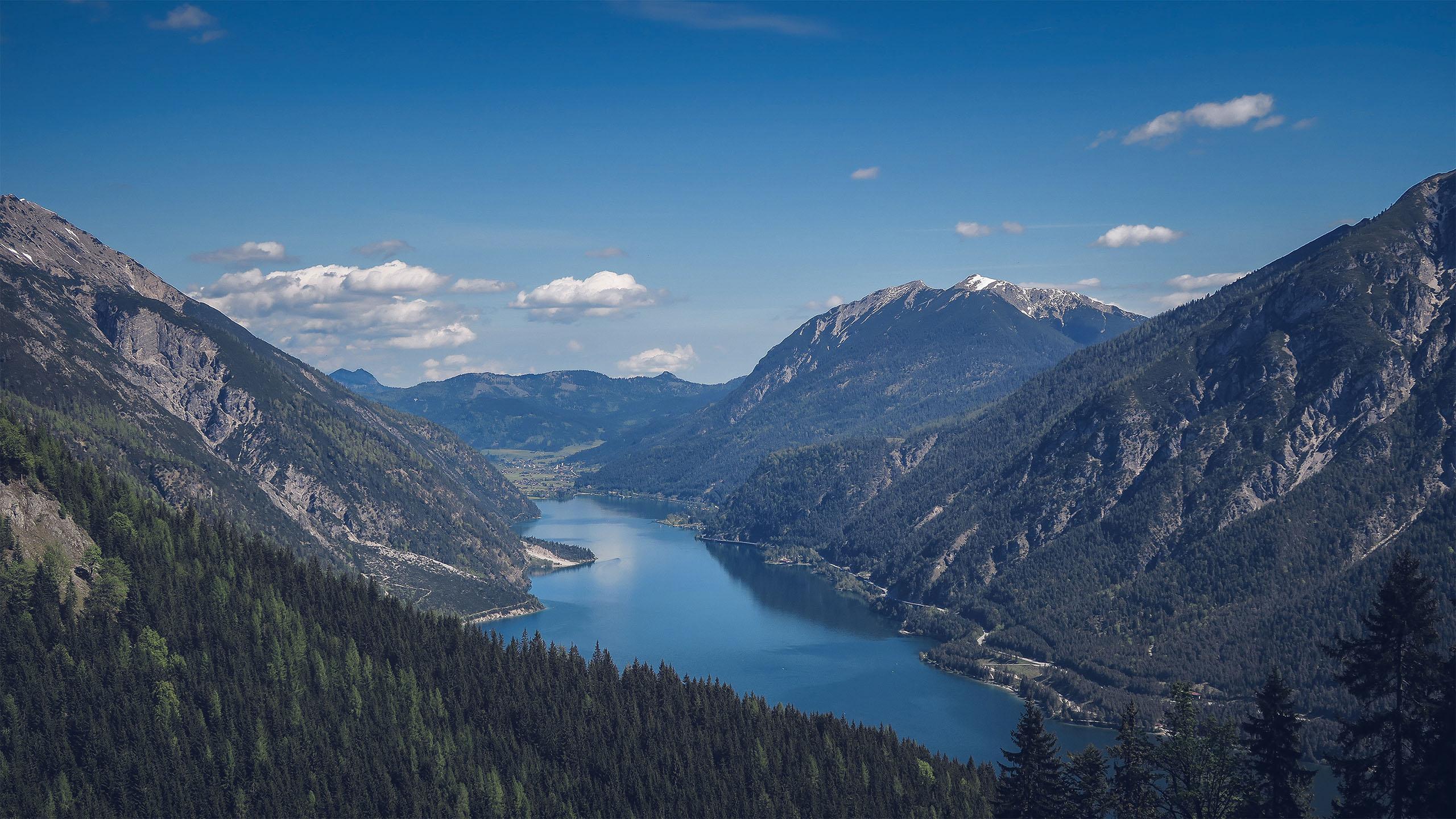 风景大片,自然风光,峡谷,大江,天空,蓝天