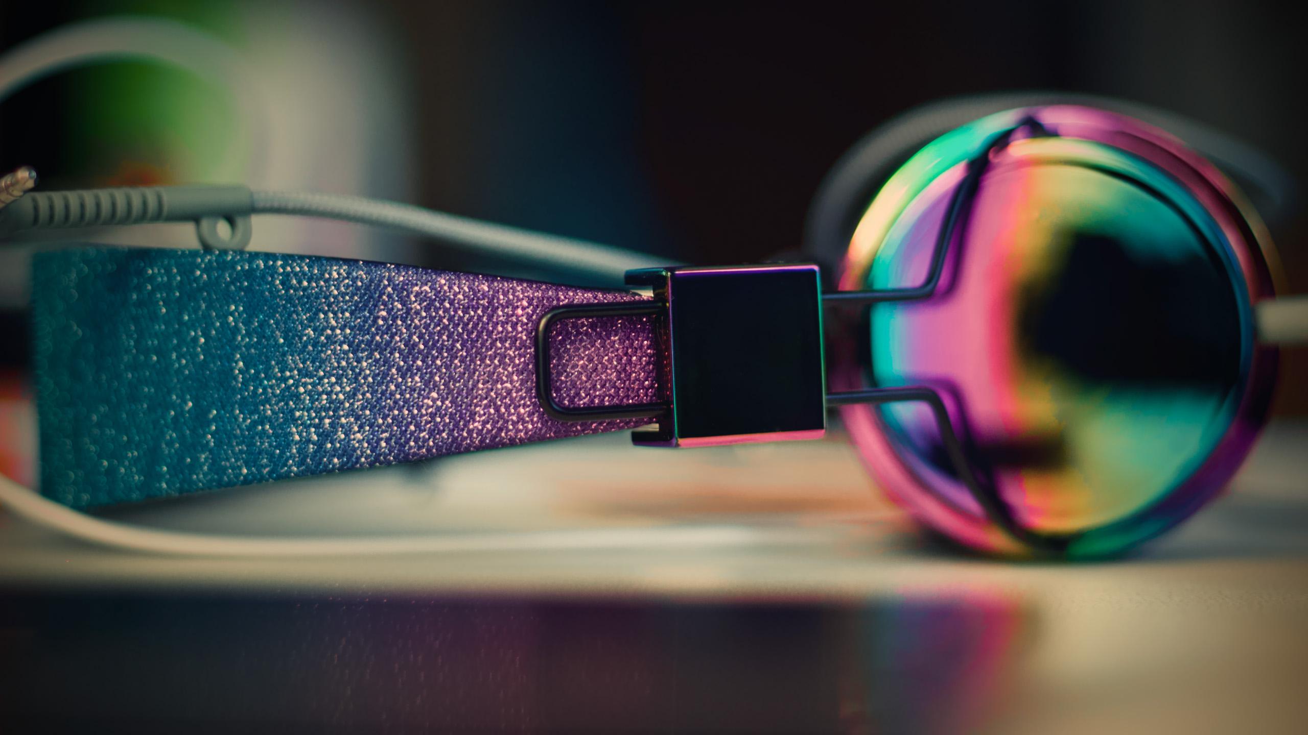 炫酷时尚,耳机,彩色,酷,音乐