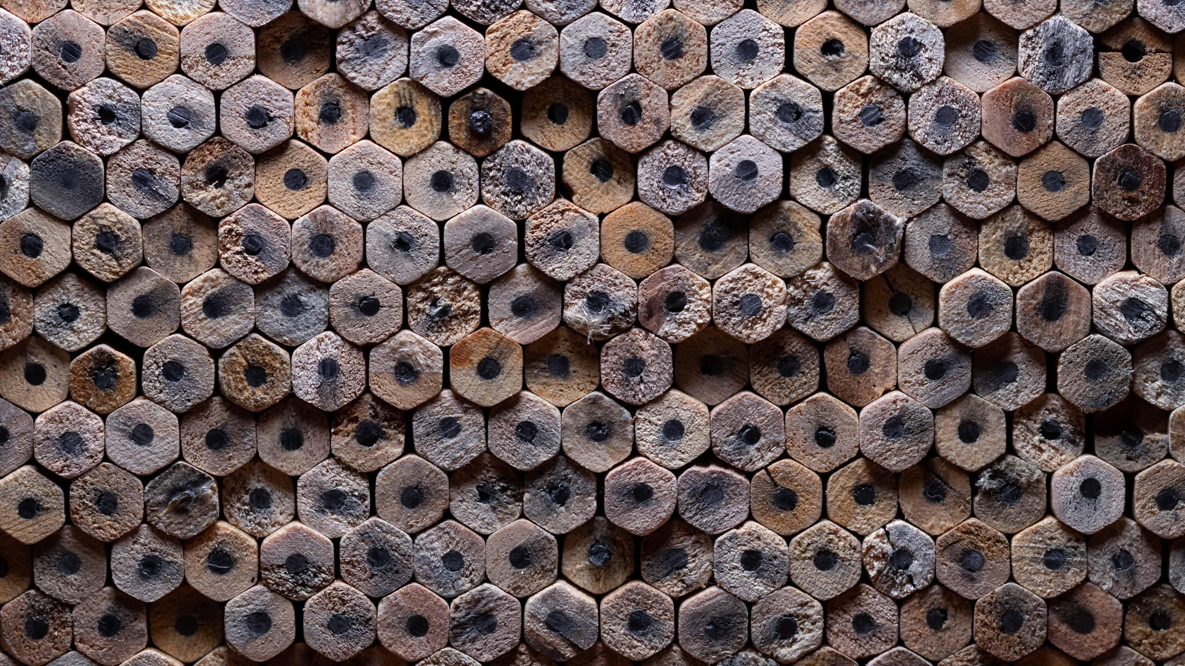 4K专区,木头,铅笔,堆积如山,密集