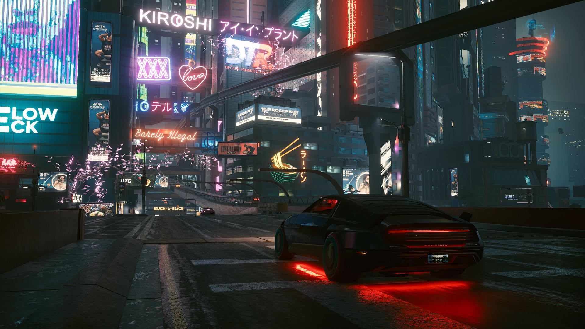 游戏壁纸,主机游戏,赛博朋克2077,未来城市,夜景