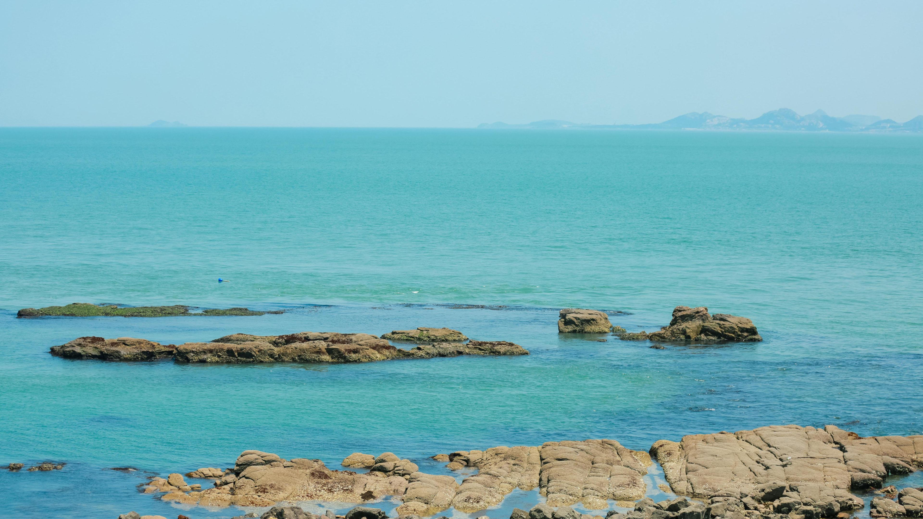 4K专区,蓝色大海,清新景色,一望无际,海边