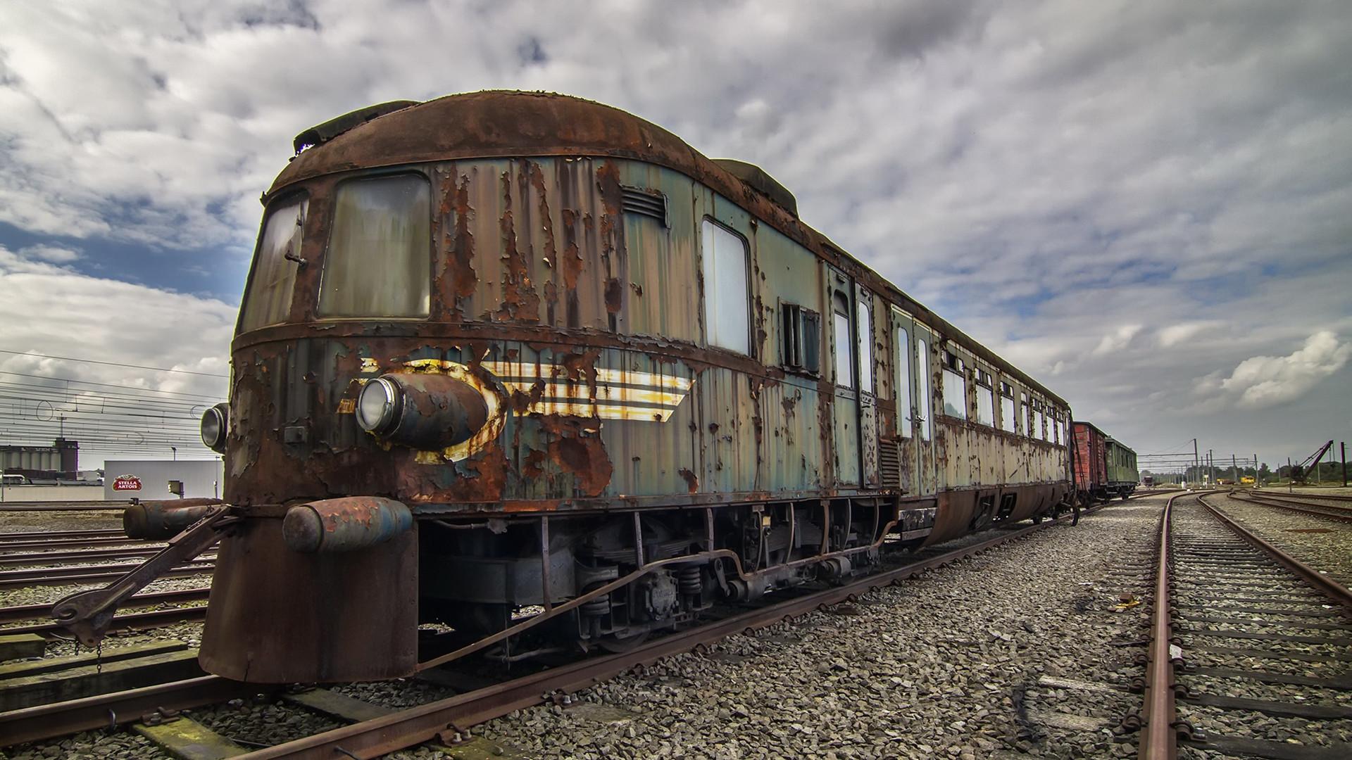 炫酷时尚,废旧火车,铁路,铁轨