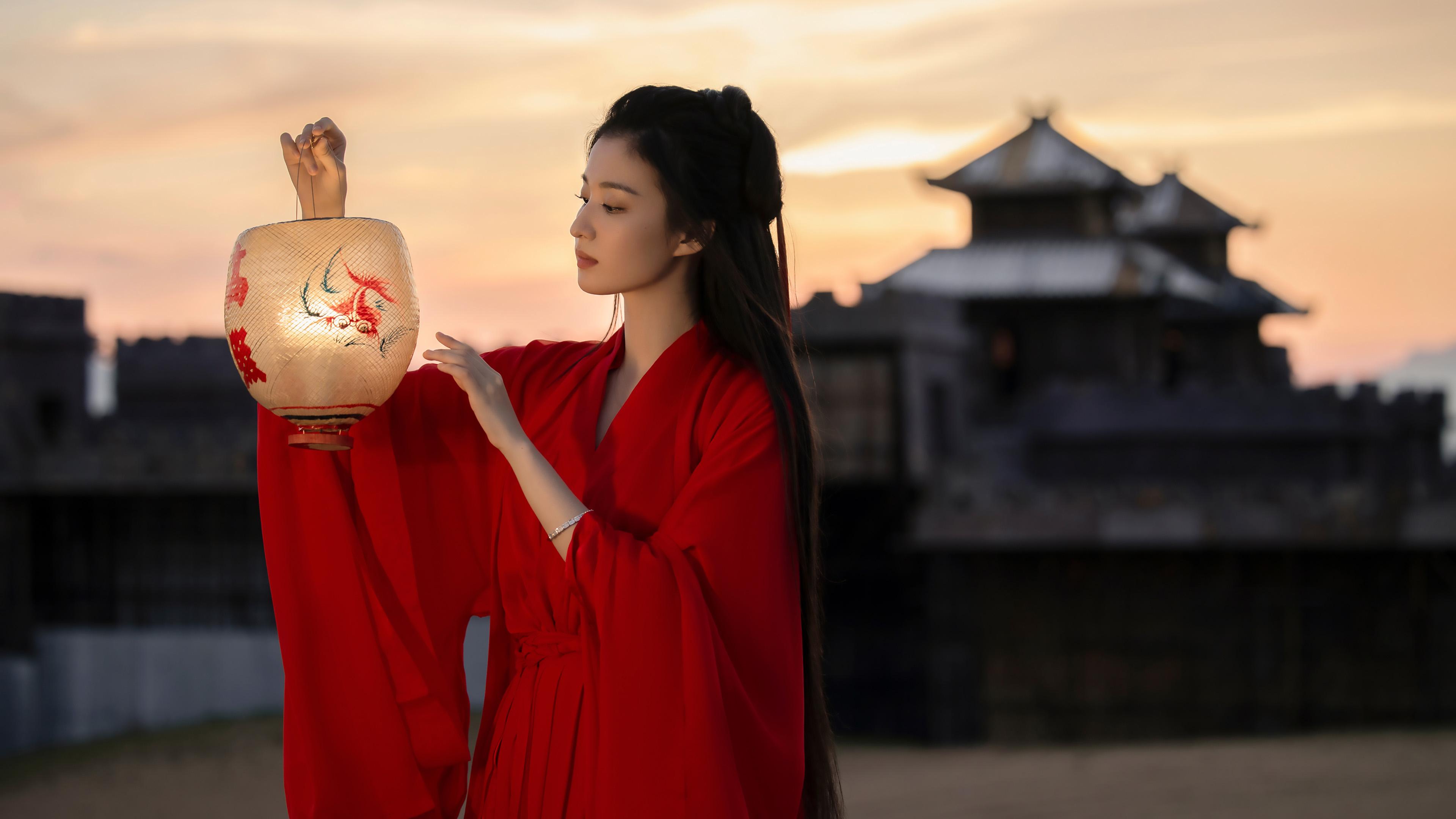 明星风尚,王楚然,古装,红裙,神仙姐姐