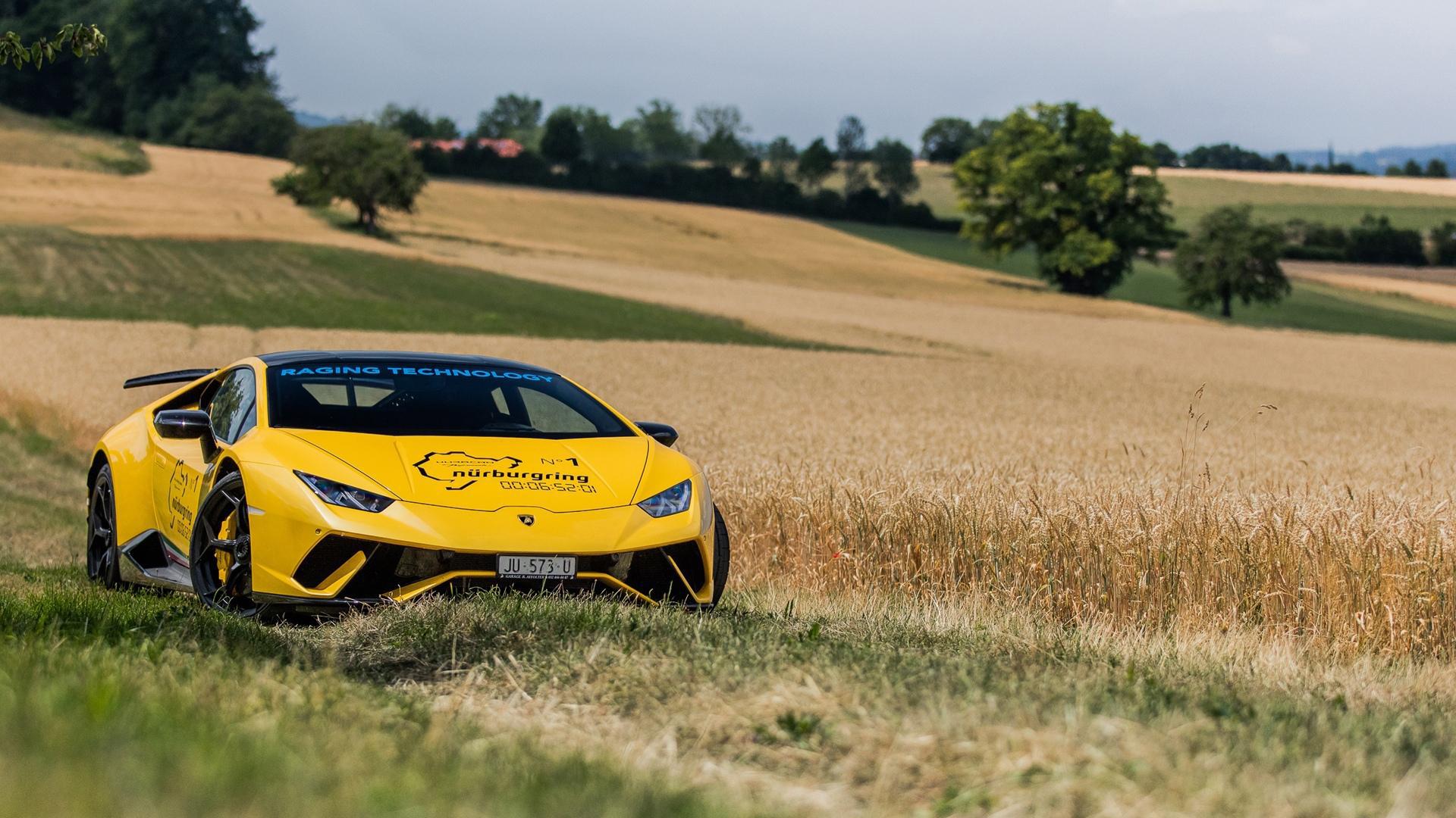 汽车天下,兰博基尼,旷野,黄色超跑