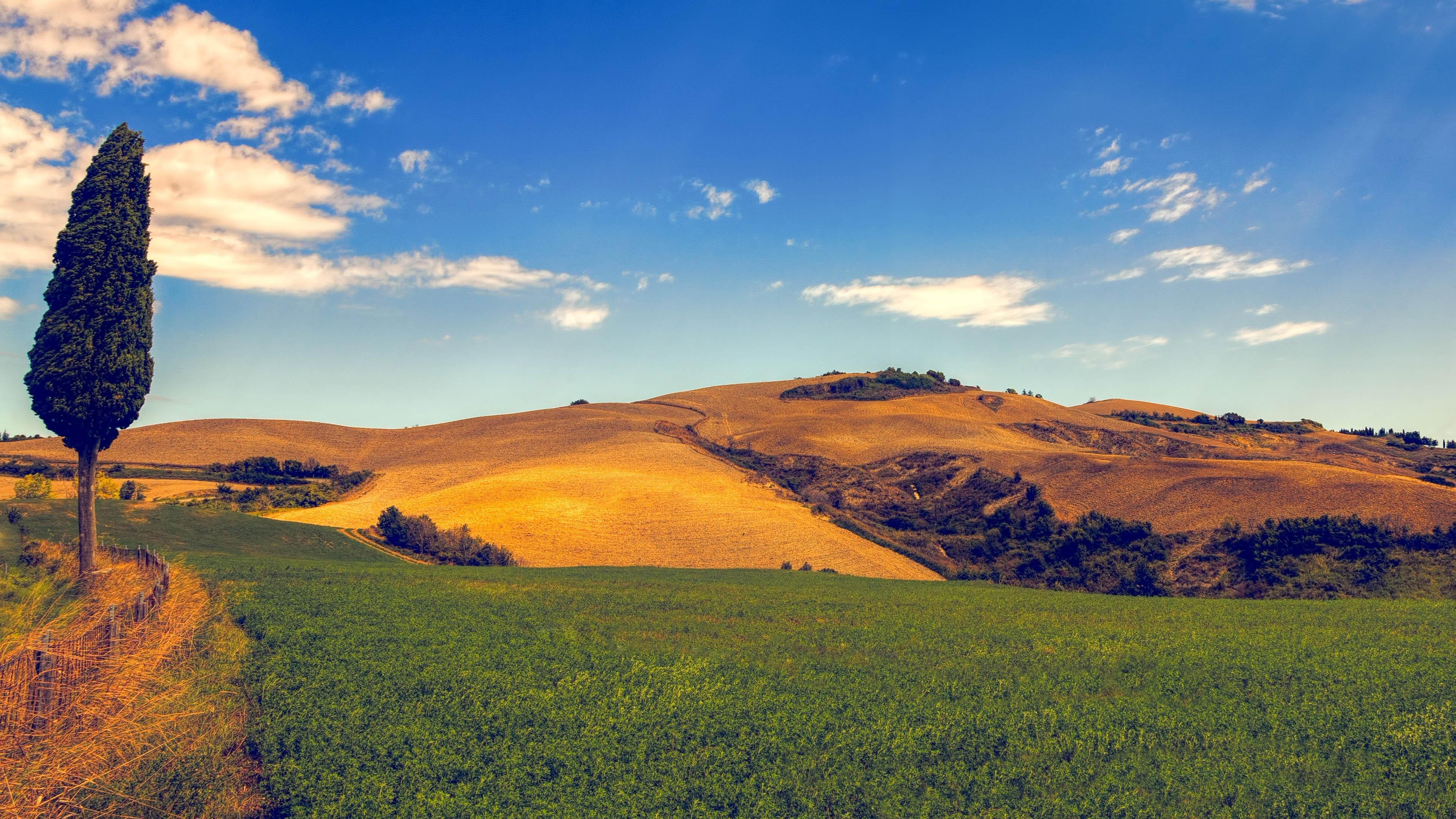4K专区,天空,高原,山峦,草坪