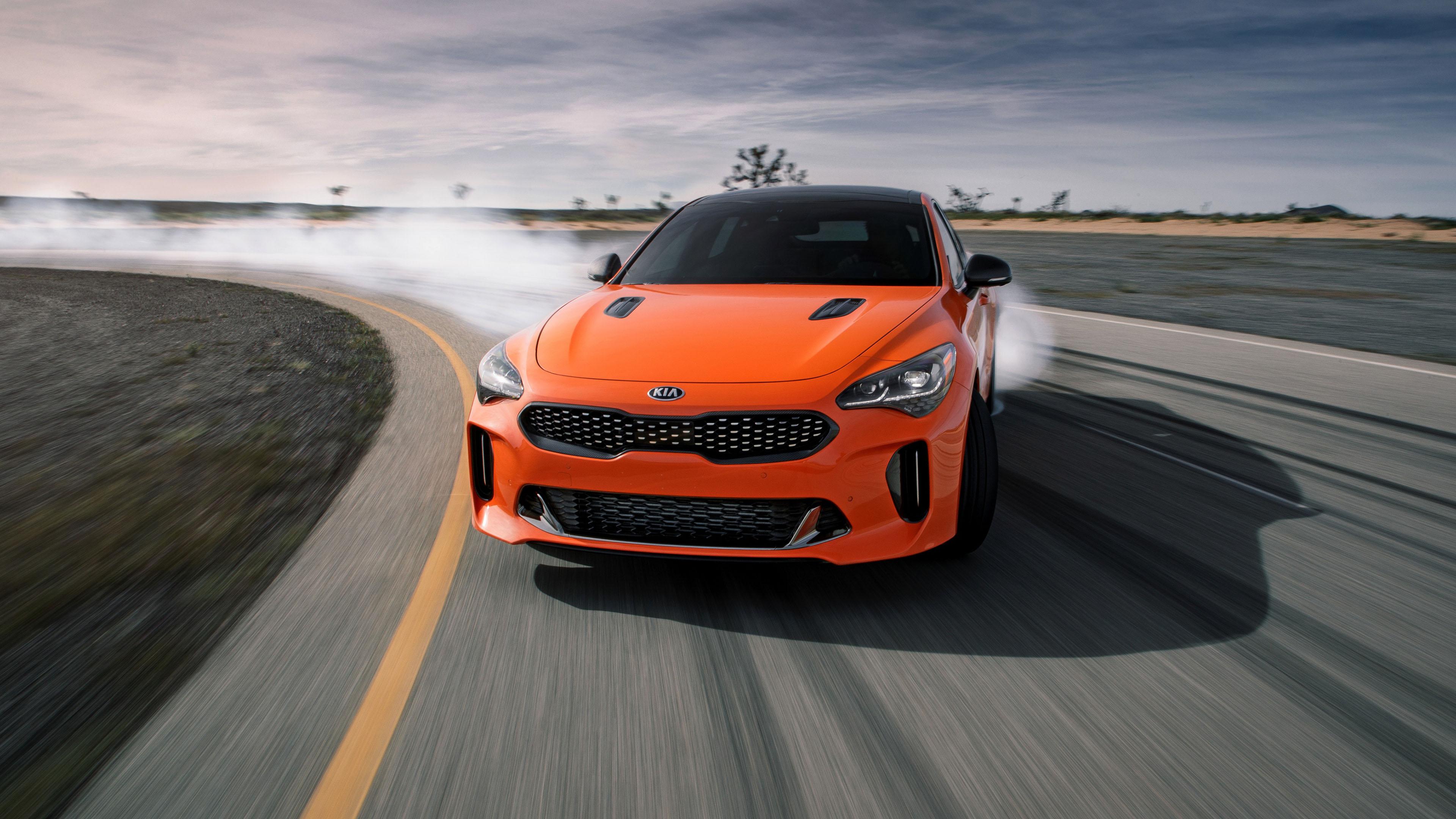 汽车天下,起亚,漂移,橙色跑车