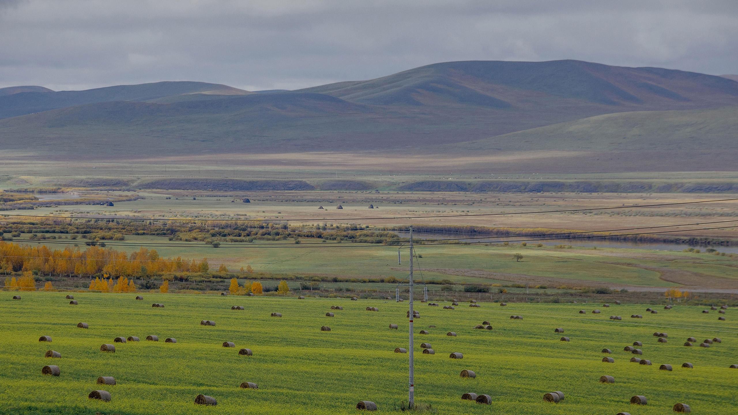 风景大片,自然风光,大草原,呼伦贝尔,草堆
