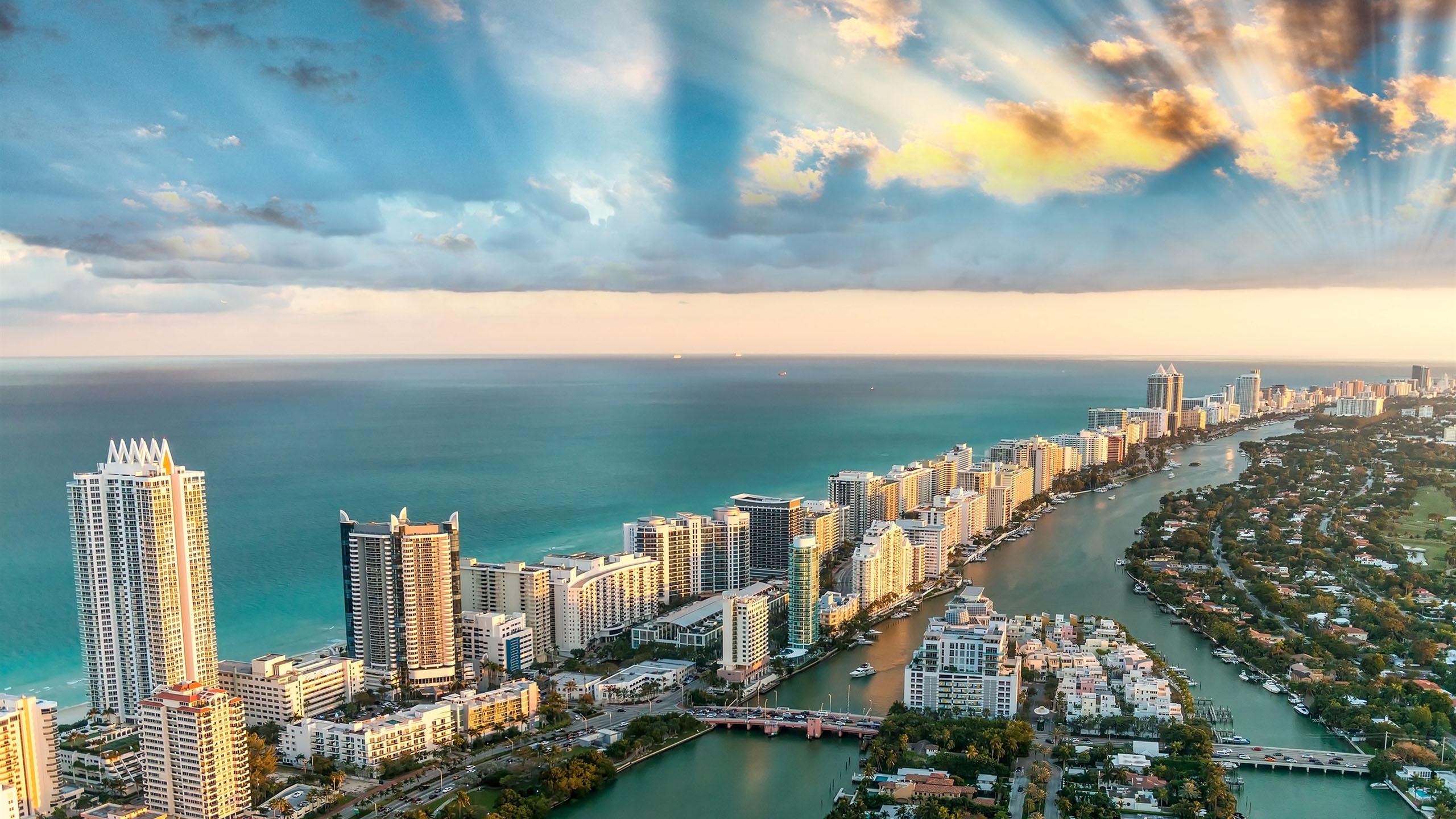 风景大片,海洋天堂,迈阿密,佛罗里达,海滨城市