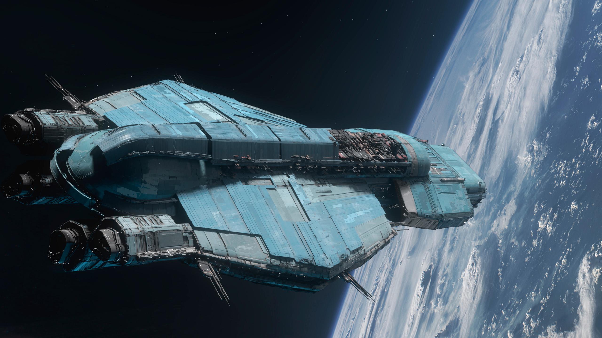 游戏壁纸,宇宙飞船,天空,地球,蓝色星球